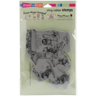 "Stampendous House Mouse Cling Stamp 4""X5""-Hat Box"