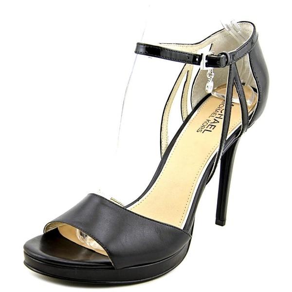 Michael Michael Kors Belle Sandal Open Toe Leather Platform Sandal