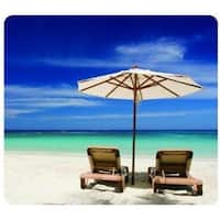 Fellowes, Inc. Recycled Optical Mousepad - Beach Chairs - 5909501