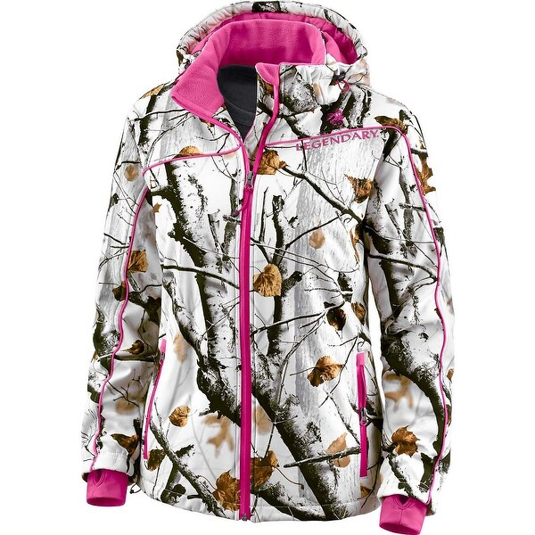 Legendary Whitetails Ladies Big Game Camo Snowdrift Softshell Jacket