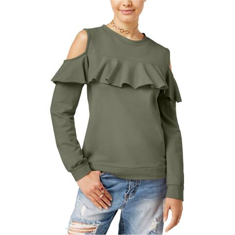 Polly & Esther Womens Cold Shoulder Sweatshirt
