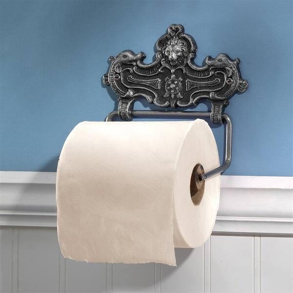 Design Toscano Victorian Lion Bathroom Cast Iron Toilet Paper Holder Image Gallery
