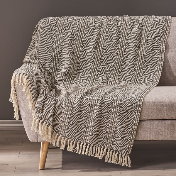 Dermody Boho Fabric Throw Blanket by Christopher Knight Home. Opens flyout.