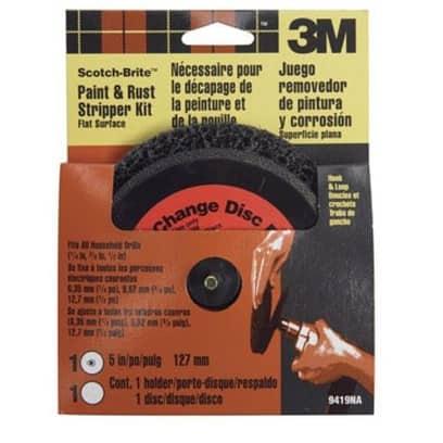 "Scotch-Brite 9419NA Flat Surface Paint & Rust Stripper Kit 5"""