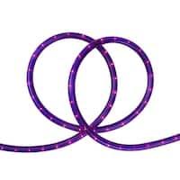 "18' Purple Indoor/Outdoor Christmas Rope Lights - 1"" Bulb Spacing"