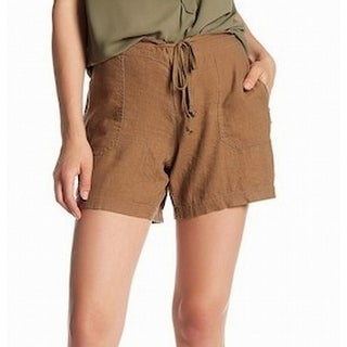Supplies South Bay NEW Brown Womens Size 10 Drawstring Zip Pocket Shorts