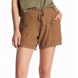 Supplies South Bay NEW Brown Womens Size 16 Drawstring Zip Pocket Shorts