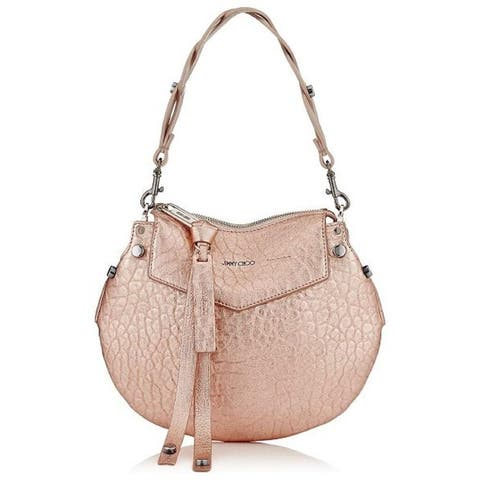 Jimmy Choo Women's Metallic Rose Gold Artie Mini Crossbody Handbag MGL174