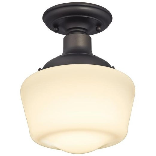 Westinghouse 63422-48 Scholar 1-Light Semi-Flush Ceiling Fixture, Oil Rubbed Bronze