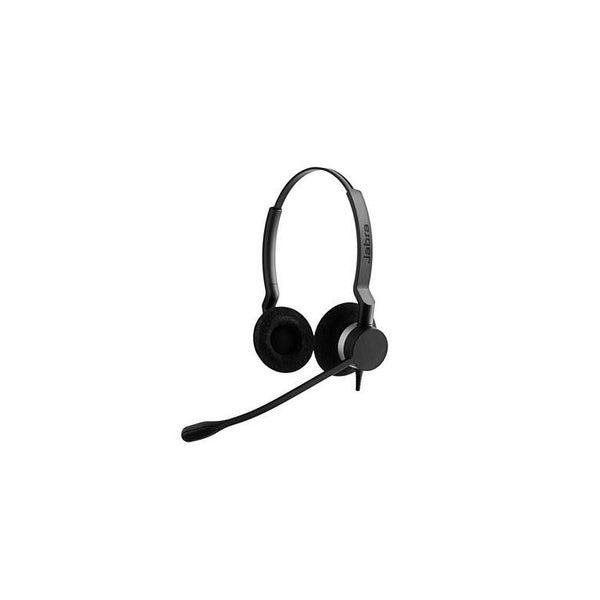 Jabra BIZ 2300 Duo Microsoft Lync Corded Headset 2399-823-109 w/ Breath Resistant Microphone