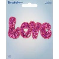 Love Pink - Wrights Sequin Iron-On Applique