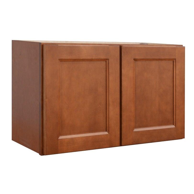 Sunny Wood Esw3018 A Ellisen 30 X 18 Double Door Wall Cabinet Amber Spice