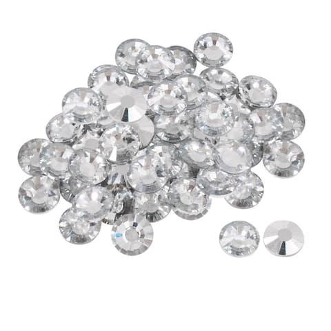 50pcs Furniture Tack Nails 25mm Dia Round Head Diamond Shape Glass DIY Sofa Buttons Headboard Crafts Decorative