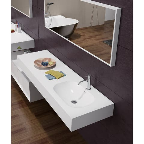 """Sonoma 48"""" Solid Surface Wall Mounted Vessel Sink"""
