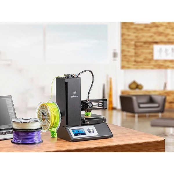 Black Monoprice Select Mini 3D Printer with Heated Build Plate