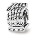 Sterling Silver Reflections Swarovski Elements Angel Wings Bead (4mm Diameter Hole) - Thumbnail 0
