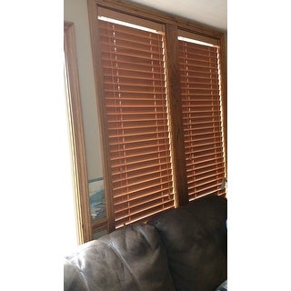 Arlo Blinds Customized Real Wood 22-inch Window Blinds