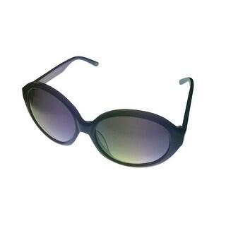 William Rast Womens Sunglass Modified Round Plastic WRS 2030 Black, Gradient - Medium