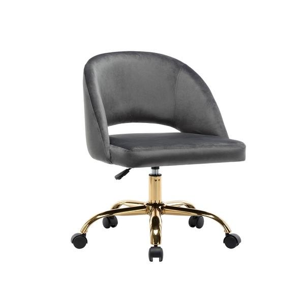Porthos Home Naiko Velvet Upholstery Swivel Office Chair. Opens flyout.