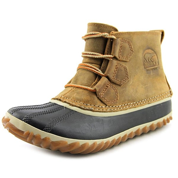 Sorel Out N About Women Round Toe Leather Brown Rain Boot