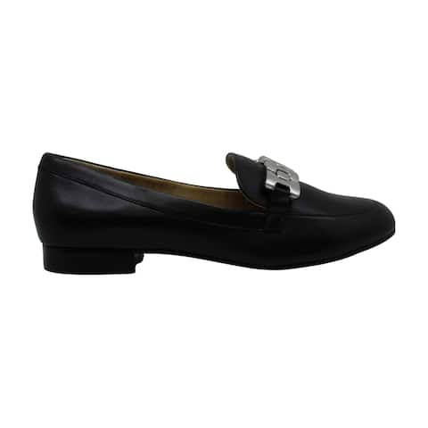Adrienne Vittadini Women's Shoes Raja Leather Almond Toe Loafers - 8