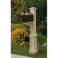 MAYNE 5813C Newport Plus Mailbox Post- Clay