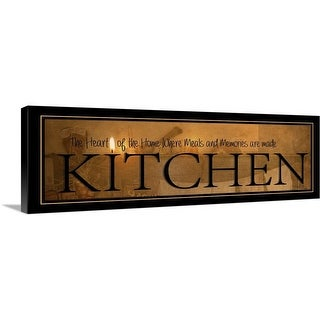 """Kitchen"" Canvas Wall Art"