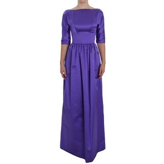 Dolce & Gabbana Purple Silk Ball Gown Full Length Dress - it40-s