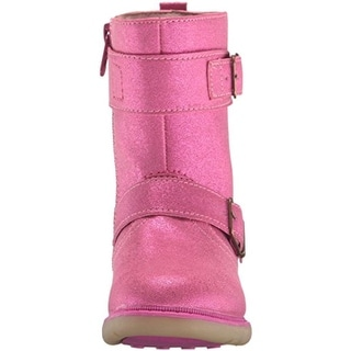 Step and Stride Girls Shimmer Mid-Calf Boots
