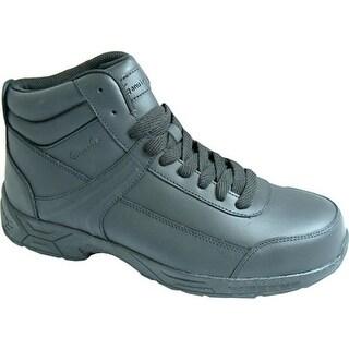 Genuine Grip Footwear Slip-Resistant Athletic Steel Toe Work Boot Black Leather