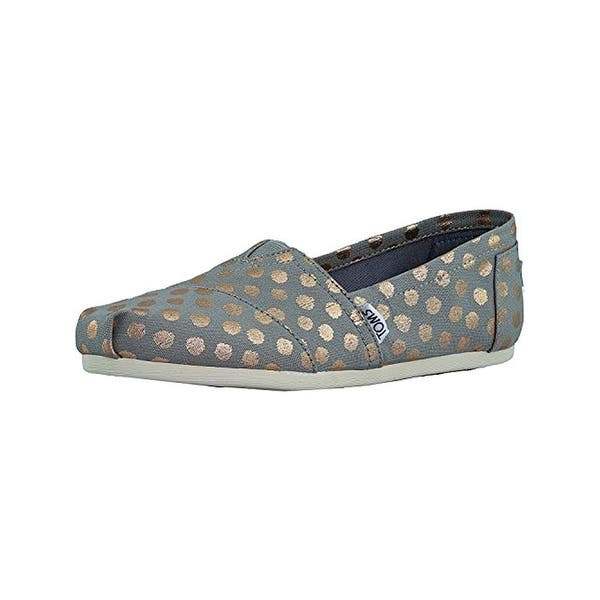 a31ca64f9f455 Toms Womens Classic Slip-On Shoes Polka Dots Fashion - 7.5 medium (b,m)