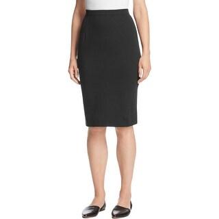Eileen Fisher Womens Petites Pencil Skirt Knee Length Elastic