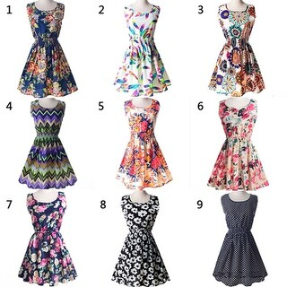 Link to Women Summer Bohemian Floral Sleeveless Vest Printed Beach Chiffon Party Dress Similar Items in Dresses