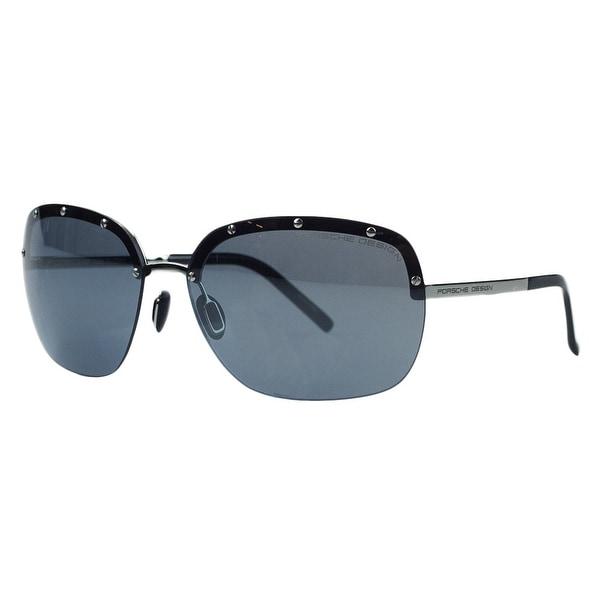 Porsche P8576-D Silver Square Sunglasses - 65-15-135