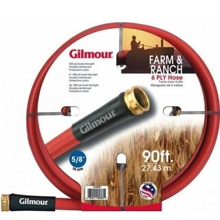 "Gilmour 29-58090 Farm Hose, 5/8"" x 90', Red"