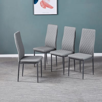 Modern PU Leather Dining Chair Set Of 4