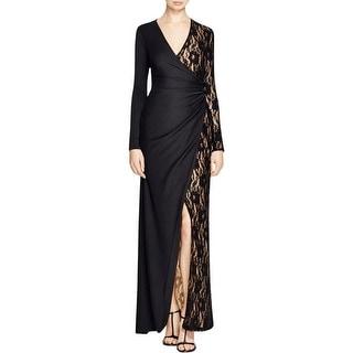 Parker Womens Evening Dress Lace Wrap