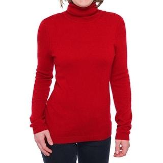 Magaschoni Long Sleeve Turtleneck Sweater Women Regular Sweater