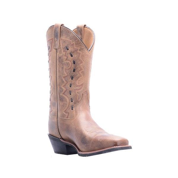 Laredo Western Boots Mens Sandoval Rubber Cowboy Distressed Tan