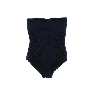 Vince Camuto Womens Cruise Bandeau Pleated One-Piece Swimsuit