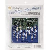 Nostalgic Christmas Beaded Crystal Ornament Kit-Gold & Crystal Icicles
