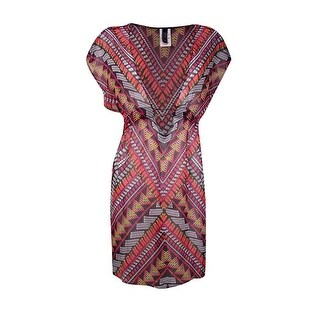 Becca by Rebecca Virtue Women's Beaded Center Coverup - multi (2 options available)