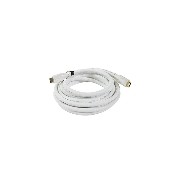 Monoprice 15 ft HDMI Cable - White Network Cable
