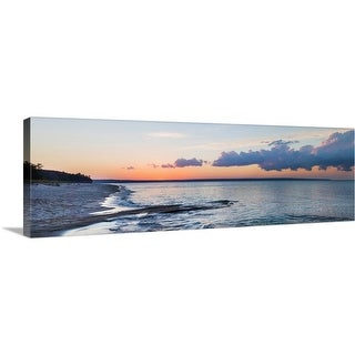 """""""Sunset over Miner's Beach, Pictured Rocks National Lakeshore, Michigan"""" Canvas Wall Art"""