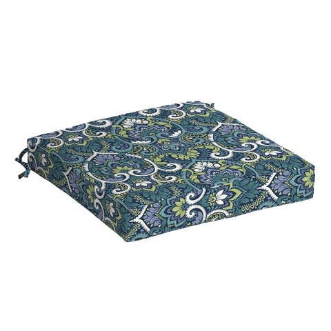Arden Selections Sapphire Aurora Damask Outdoor 19 x 19 in. Seat Cushion - 19 in L x 19 in W x 4 in H