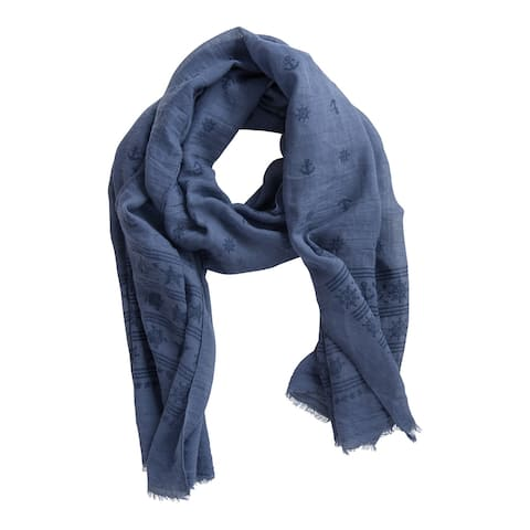 Tickled Pink Sea Stripes Scarf, Blue