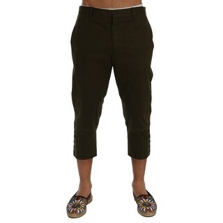 Dolce & Gabbana Green Cotton Stretch Capri Pants