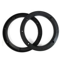 "Unique Bargains Pair Universal 6.5"" Car Speaker Spacer Adapter Bracket Holder Black"