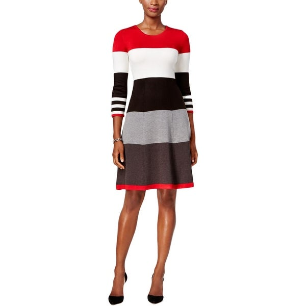 179882ef602 Shop Jessica Howard Womens Sweaterdress Striped Knee Length - On Sale -  Free Shipping On Orders Over  45 - Overstock - 20047701
