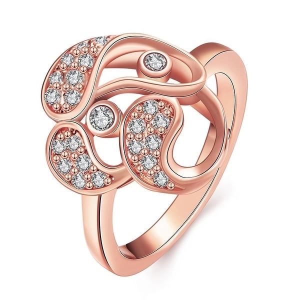 Rose Gold Trio-Matrix Ring